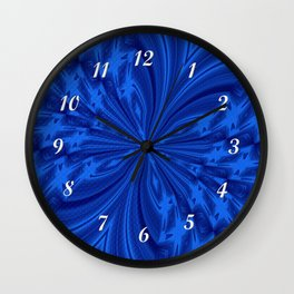 Abstract Butterfly Blue Wall Clock