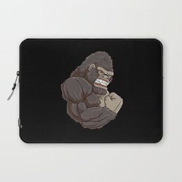 Gorilla At The Gym | Fitness Training Muscles Laptop Sleeve
