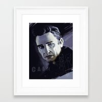 johnny cash Framed Art Prints featuring Johnny Cash by Luis Dourado