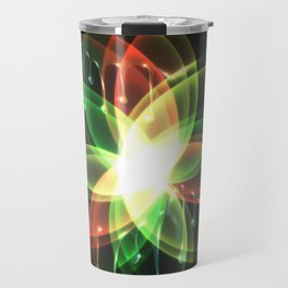 Colorful and shiny flower artwork with paint Travel Mug