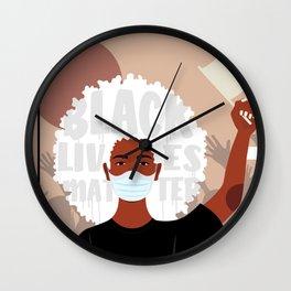 Protest No. 1 Wall Clock