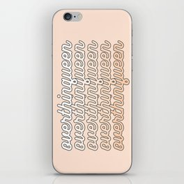 the queen of overthinking iPhone Skin