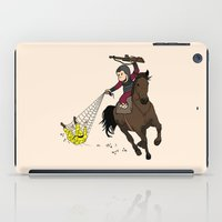 planet of the apes iPad Cases featuring Curious George/Planet of the Apes by The Cracked Dispensary