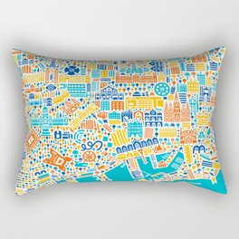 Vianina Barcelona City Map Poster Rectangular Pillow