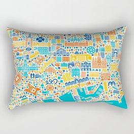 Vianina Barcelona City Map Poster Rectangular Pillow