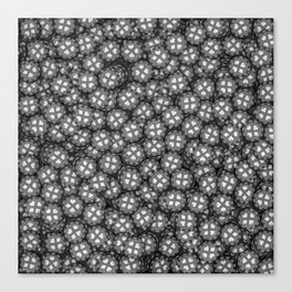 Poker chips B&W / 3D render of thousands of poker chips Canvas Print