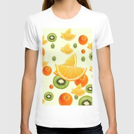 TROPICAL KIWI-ORANGES KITCHEN ART T-shirt