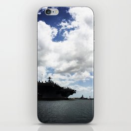 Pearl Harbor Aircraft Carrier Silhouette iPhone Skin