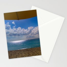Seaside Under Umbrellas Stationery Cards