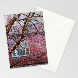 Brick Exterior with Lights Stationery Cards