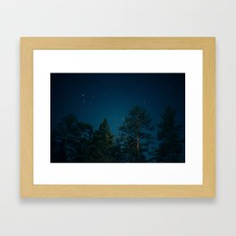 Kings Canyon National Park Slow Exposure at Night Framed Art Print