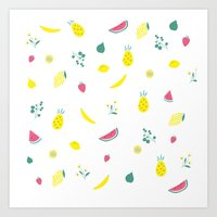fruits Art Prints featuring Fruits by haroulita