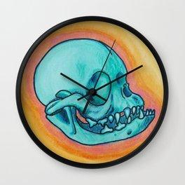 Pug skull Wall Clock