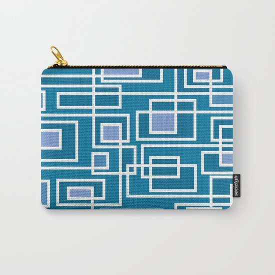 Geometric blue pattern Carry-All Pouch