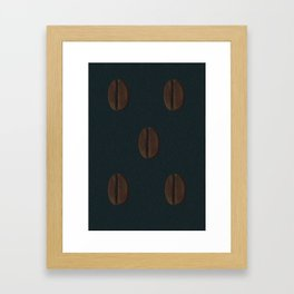 Ethiopian Coffee Bean Framed Art Print