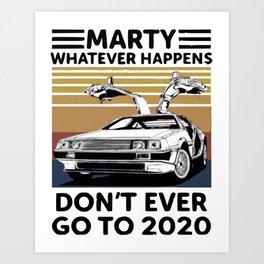 MARTY MCFLY ! Art Print