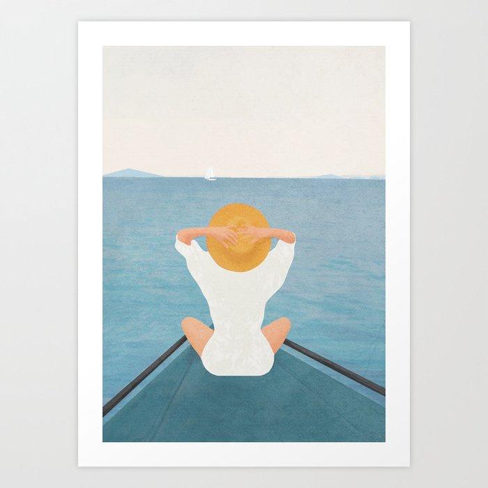 Summer Vacation I Art Print