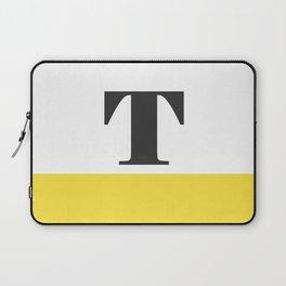 Monogram Letter T-Pantone-Buttercup Laptop Sleeve