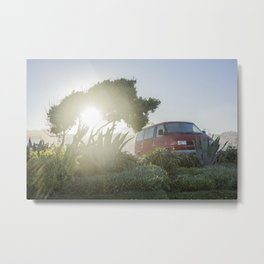 Car in the morning lights Metal Print