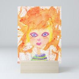 Orange girl Mini Art Print