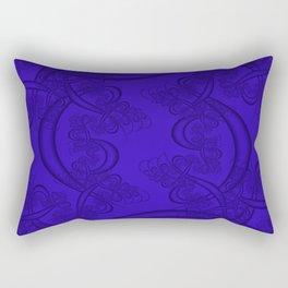 Blue Gem Fractal Rectangular Pillow