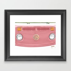 Groovy Blushing Framed Art Print