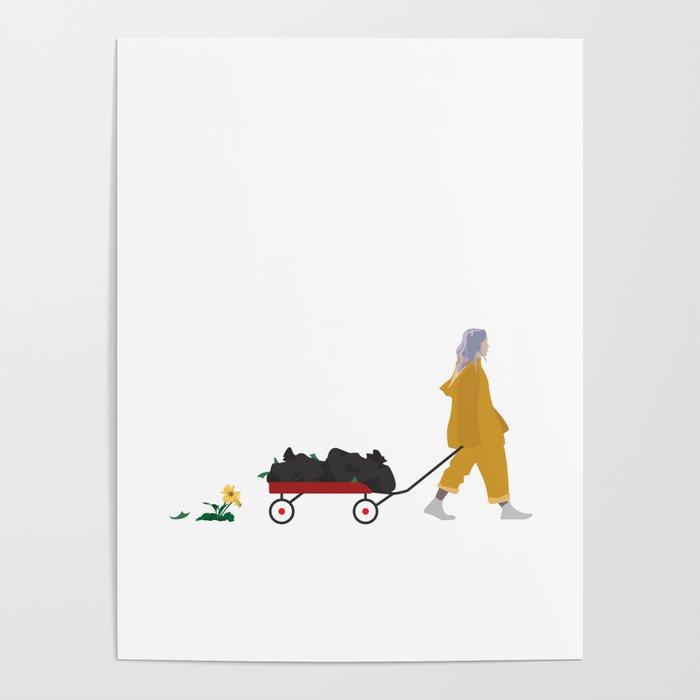 Billie Eilish Bellyache Poster
