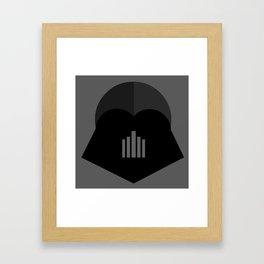 Darth Vader in 2D Framed Art Print
