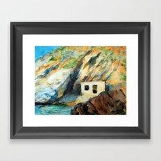 EYGENIA LOGVYNOVSKA, Sea house Framed Art Print