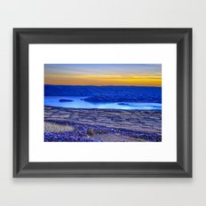 A Titicaca Sunset in Blue Framed Art Print