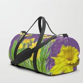 DAFFODIL SPRING GARDEN & PURPLE  DESIGN ART Duffle Bag