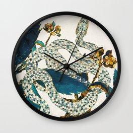 Summer Indigo Garden Wall Clock