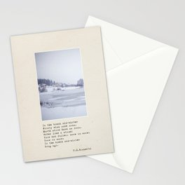 In the bleak mid-winter Stationery Cards