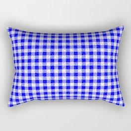 Gingham Blue and White Pattern Rectangular Pillow