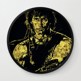 John Rambo - The Legend Wall Clock