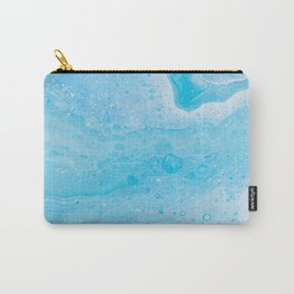 Colorful Pastel Blue Abstract Painted Fluid Art Carry-All Pouch