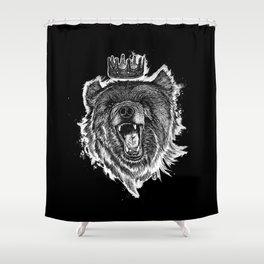 Berlin Bear King Shower Curtain