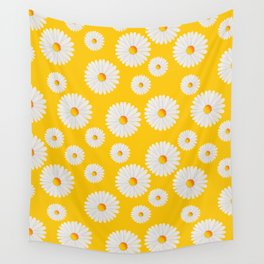 Yellow Daisy Repeat Wall Tapestry