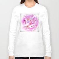 peony Long Sleeve T-shirts featuring Peony by Art-Motiva