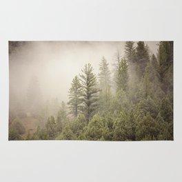 Color Landscape | Pine Forest in Fog Rug