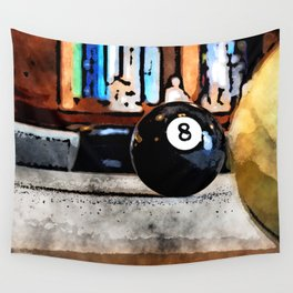 Shooting For The Eight Ball Wall Tapestry