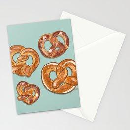 Pretzels Ash Green Mint_oil digital painting  Stationery Cards