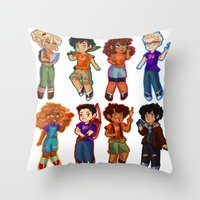 percy jackson Throw Pillows featuring Chibis V2  by chubunu