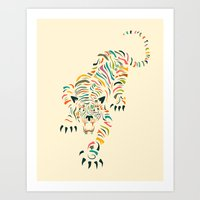 tiger Art Prints featuring Tiger by Jazzberry Blue