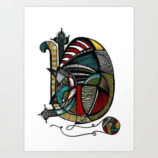 Pi-Cat-So Art Print