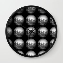 Cross Crystal Ball Wall Clock