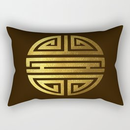 Four blessings Gold Rectangular Pillow