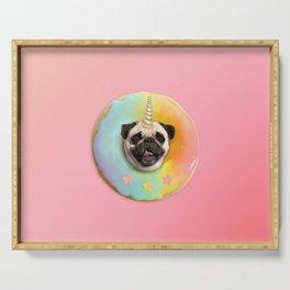 Unicorn Pug Pastel Donut Serving Tray