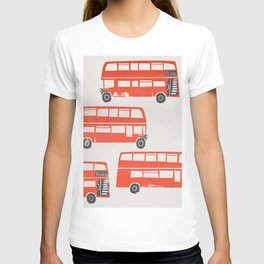 London Double Decker Red Bus T-shirt