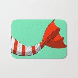Candy Cane Mermaid Tail #2 #Christmas #Holiday Bath Mat
